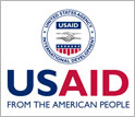 Logo of USAID and the words USAID FROM THE AMERICAN PEOPLE.