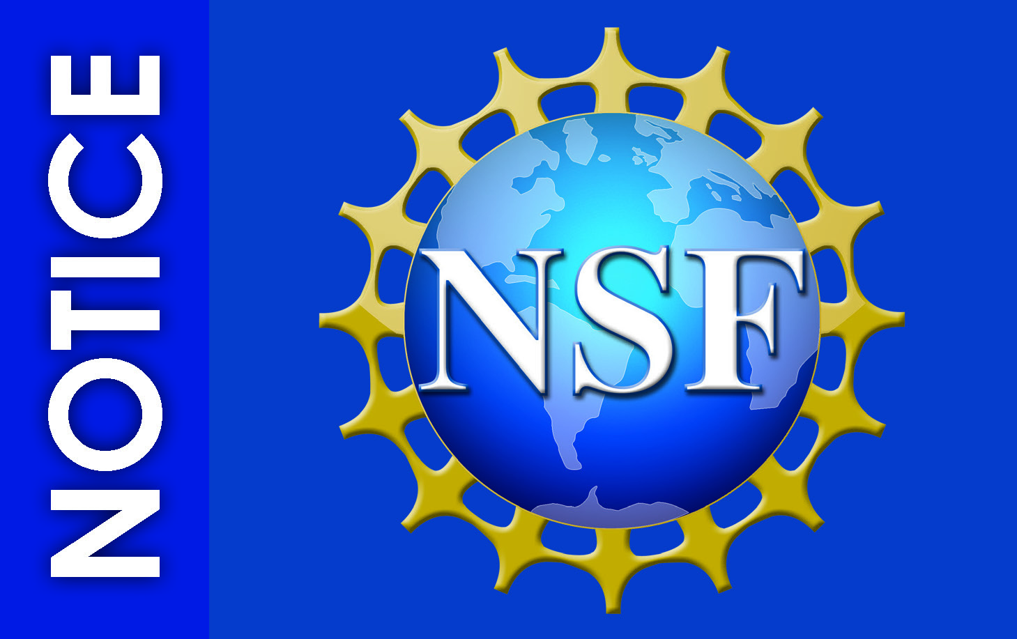 Image of NSF logo and text that reads notice.