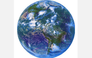Satellite image of the Earth.