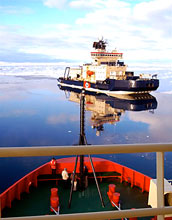Photo of the Swedish vessel Oden as seen from NSF's Nathaniel B. Palmer.