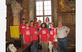 Photo of the U.S. team that competed in 2009 International Linguistics Olympiad, Wroclaw, Poland.