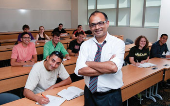 professor Autar Kaw with students