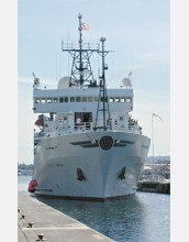 The research vessel <em>Thomas G. Thompson<em/> hosts a variety of remotely operated vehicles.