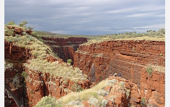 Oxygen has been found before this formation of iron oxide, or rust, in Western Australia.