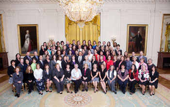 Photo of President Obama with PAEMST recipients.