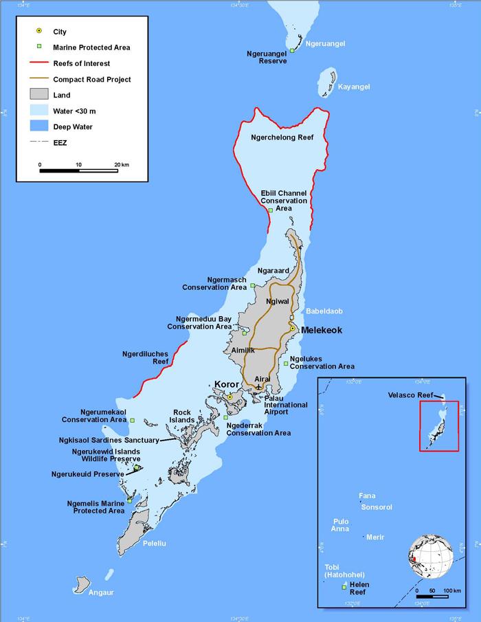 Palau Islands Micronesia ISLANDS Miles Of Isles Pinterest - Palau map