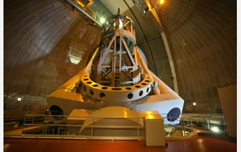 Photo of the 200-inch Hale Telescope at Palomar Observatory.