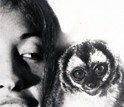 Patricia Wright in 1972 with an owl monkey