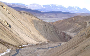 Photo of Griesbach Creek in the Arctic.