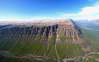 Putorana Plateau, a UNESCO World Heritage Area, contains 500 million years of history.