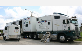 The Code 3 Response Vehicle takes the role of an emergency veterinary hospital