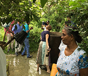 The CKDu workshop team checks out water used for drinking in Sri Lanka's North Central Province.