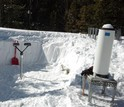 Researchers had to dig instruments that measure precipitation out of the heavy snow in Idaho this winter.