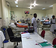 Patients with kidney disease, including CKDu, undergo dialysis in the Sri Lanka village of Padaviya.