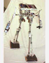 The Cornell passive-dynamic, powered robot.