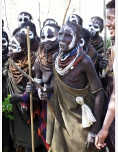 The researchers visited with members of the Bume who live on the western side of the Omo River.