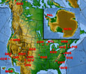 Map of North America, Hawaii, Greenland and the Caribbean showing NSF's LTER sites.