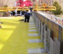 The new composites were critical for both the bridge deck renovation and the guardrail replacement