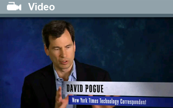 Photo of New York Times technology correspondent David Pogue.