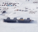 Aerial shot of South Pole station