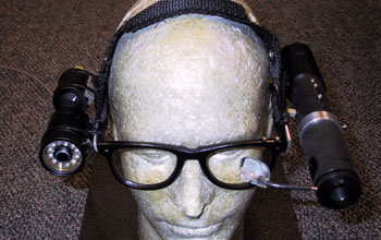 head-mounted components of the Wearable Low Vision Aid