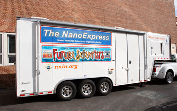 Image of Howard University's NanoExpress, a mobile science theme park.