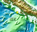 Map showing the location of the CRISP research site off Costa Rica.