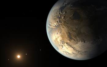 image of a new Earth-sized planet