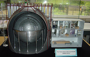 "In this model, one can see the ""onion shell"" of the Borexino experiment."