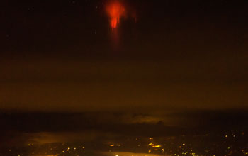 sky with red sprites