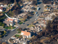 Photo of a California neighborhood devastated by a wildfire in October 2007.
