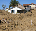 Photo of community in La Conchita, Calif., that was damaged by landslides in January 2005.