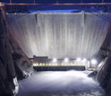 Photo of water released from the Glen Canyon Dam.