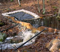 Photo of a weir placed at NSF's Harvard Forest Long-Term Ecological Research site.