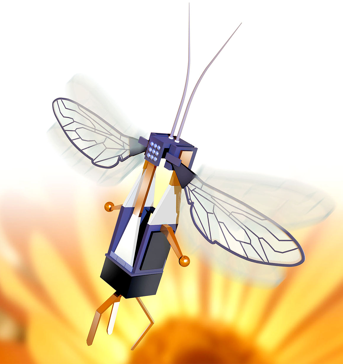 how to make a flying insect robot at home