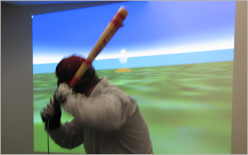 Simulation of an approach ball & pitcher