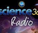 Text Science360 Radio with images of NSF logo, molecular structure, and other patterns.