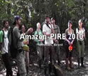 Research who are studying the Amazon rainforest and the words Amazon-Pire 2010, Manaus, Brazil.