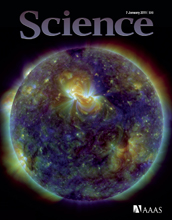Cover of the January 7, 2011 issue of the journal Science.