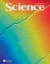 Cover of the February 26, 2010 issue of the journal Science.