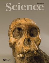 Cover of the April 9, 2010 issue of the journal Science.