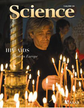Cover of the July 9, 2010 issue of Science.