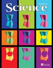 Cover of the August 12, 2011 issue of the journal Science.