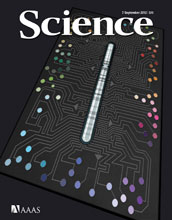 Cover of the September 7, 2012 issue of the journal Science.