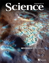 Cover of the September 30, 2011 issue of the journal Science.