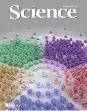 Cover of the October 29, 2010 issue of the journal Science.