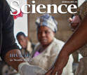 cover of the journal Science showing an African woman