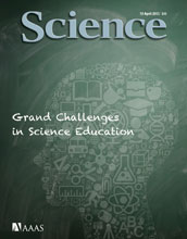 cover of Science magazine for April 19 2013