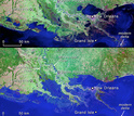 Louisiana's coast is underwater in this simulation of rising seas.