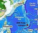 The NW Rota-1 undersea volcano is located north of the island of Guam.